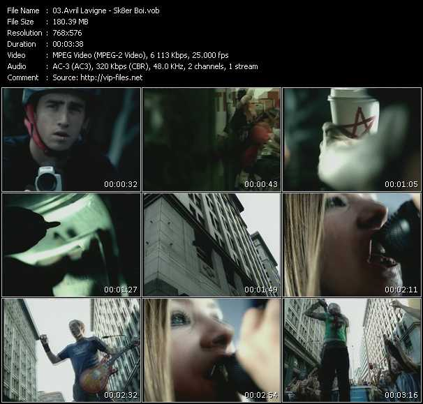 video Sk8er Boi screen