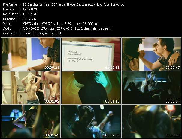 Basshunter Feat. Dj Mental Theo's Bazzheadz video screenshot