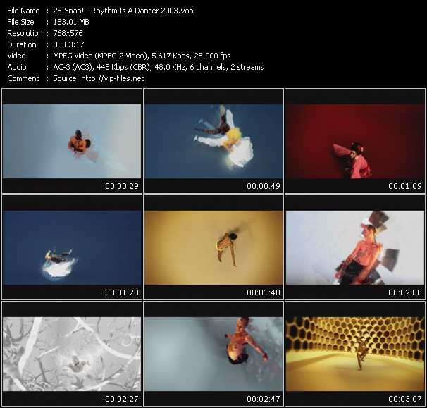 video Rhythm Is A Dancer 2003 screen
