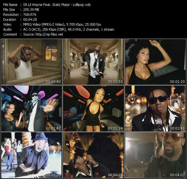 Lil' Wayne Feat. Static Major video screenshot