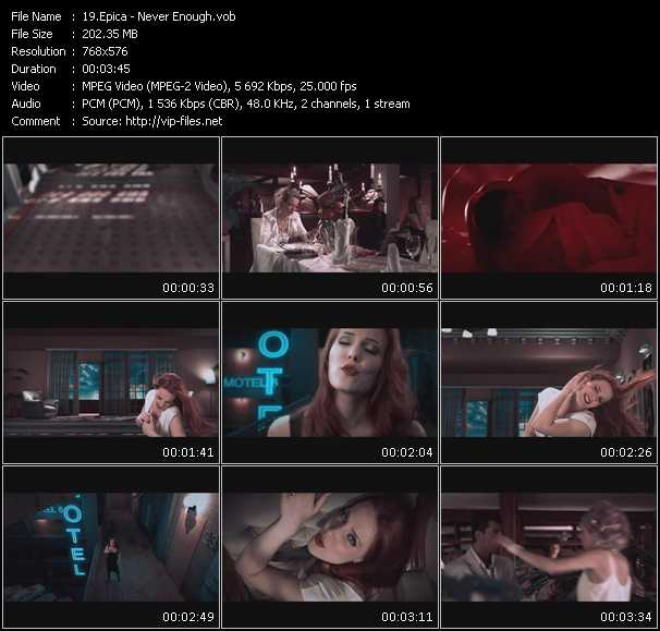 Epica video screenshot