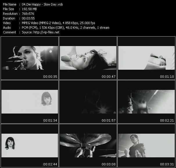 Die Happy video screenshot