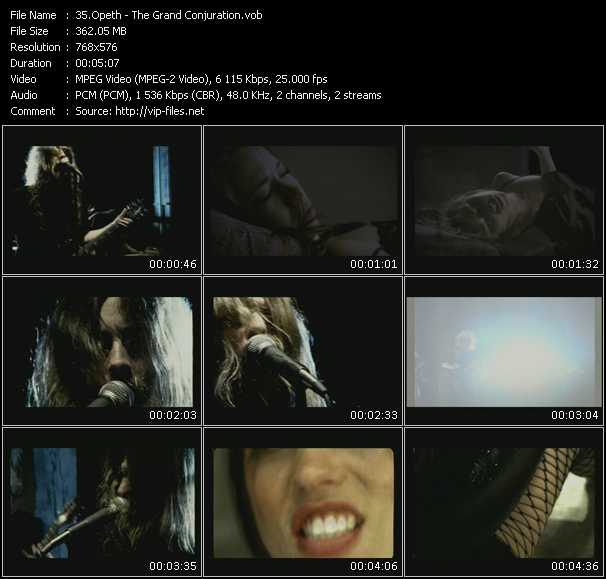 Opeth video screenshot