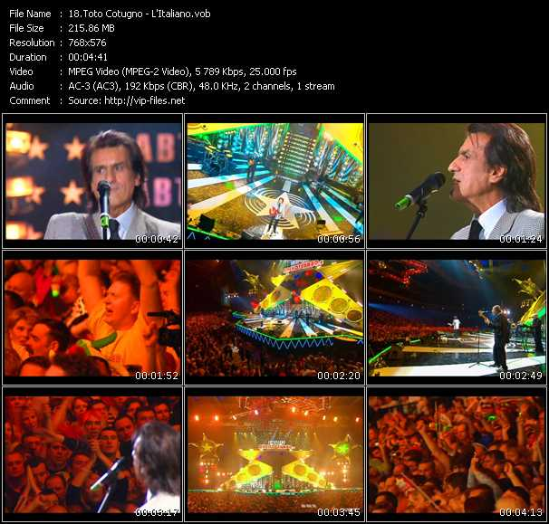 Toto Cotugno video screenshot