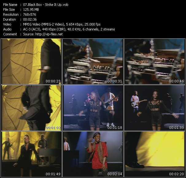 video Strike It Up screen