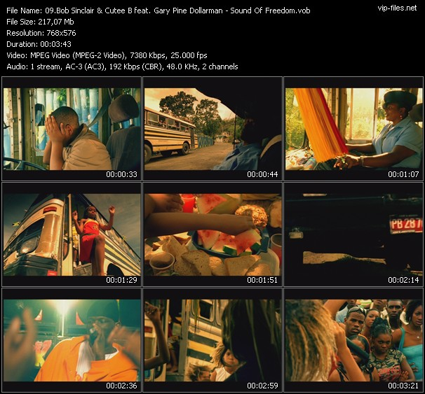 Bob Sinclar And Cutee B Feat. Gary Pine And Dollarman video screenshot