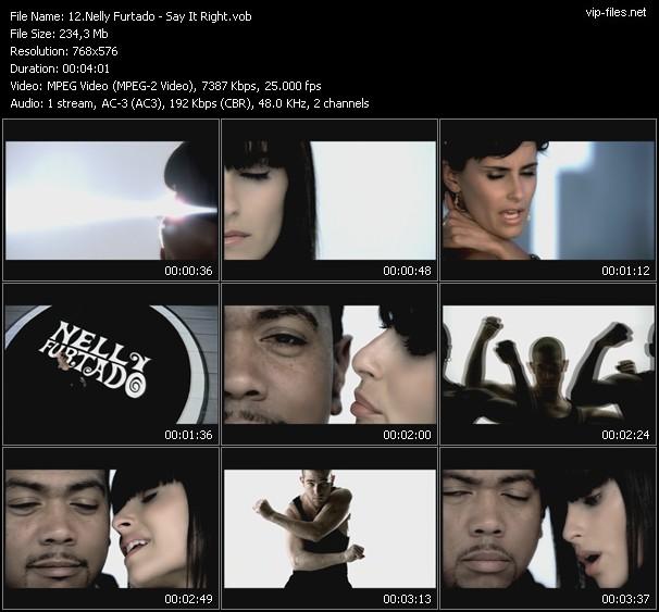 Nelly Furtado video screenshot