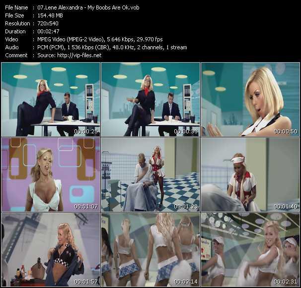 Lene Alexandra video screenshot