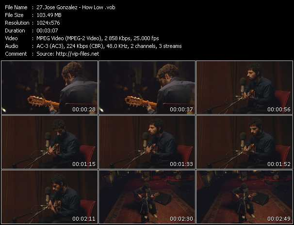 Jose Gonzalez video screenshot