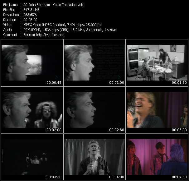 John Farnham video screenshot