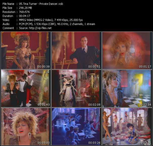 video Private Dancer screen