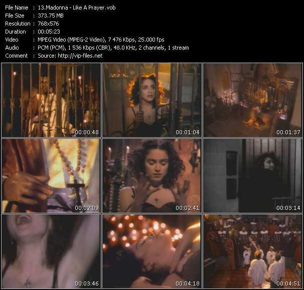 video Like A Prayer screen