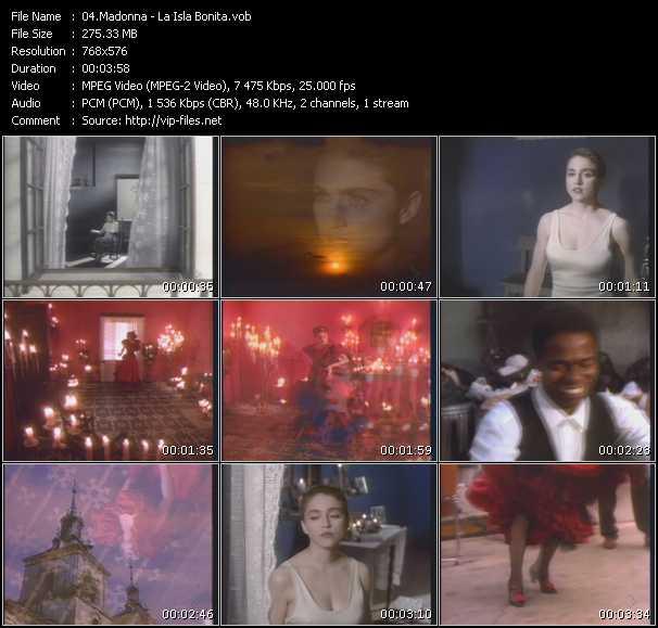video La Isla Bonita screen