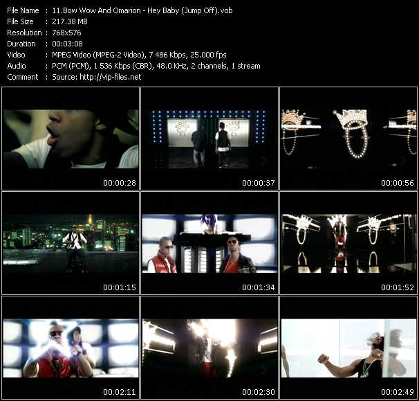 video Hey Baby (Jump Off) screen