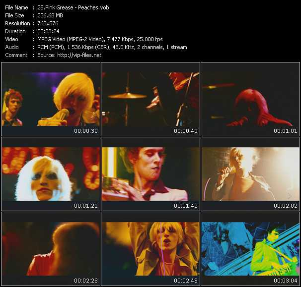 video Peaches screen