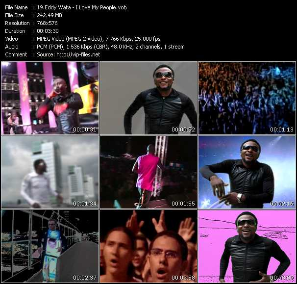 Eddy Wata video screenshot