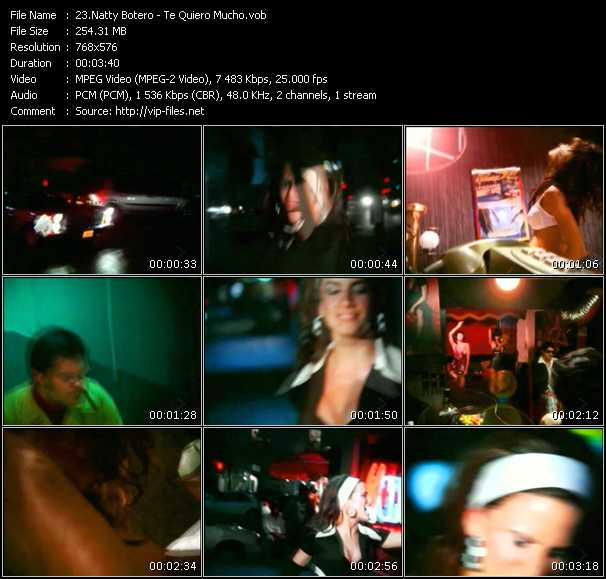 Natty Botero video screenshot