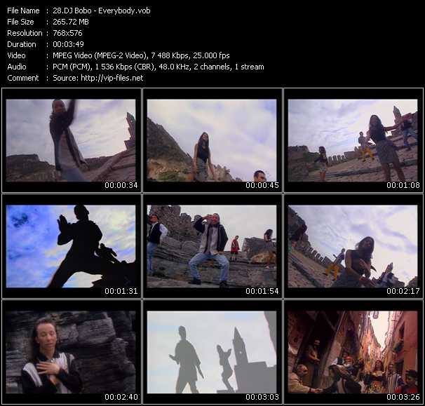 Dj Bobo video screenshot