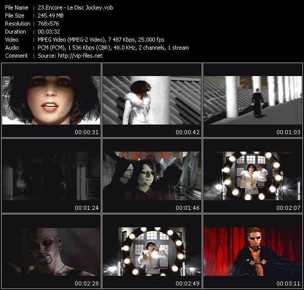 Encore video screenshot