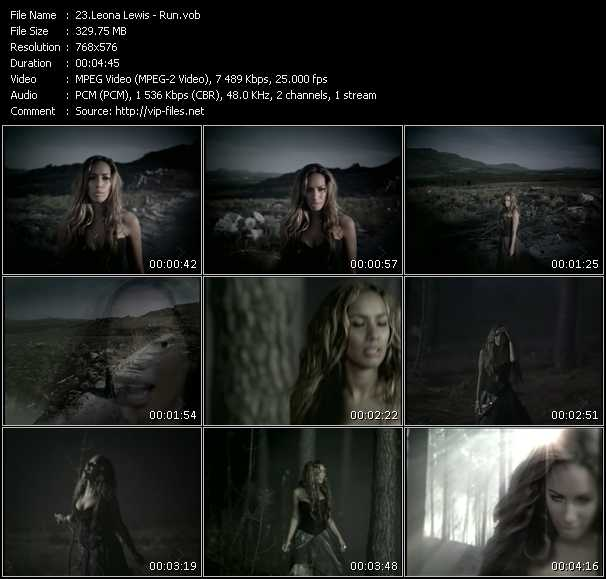 Leona Lewis video screenshot