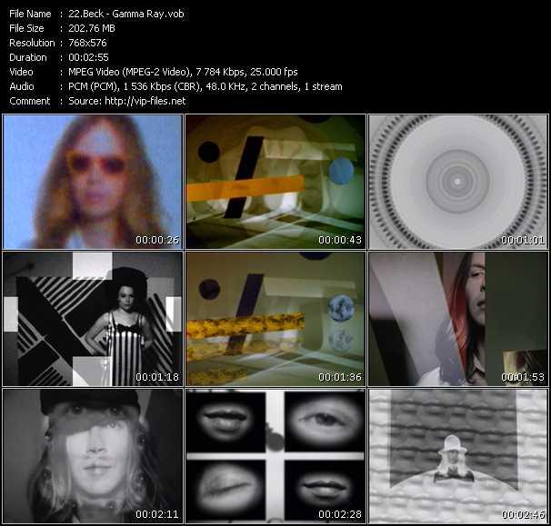 Beck video screenshot