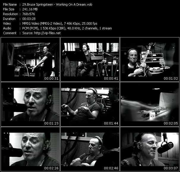 Bruce Springsteen video screenshot