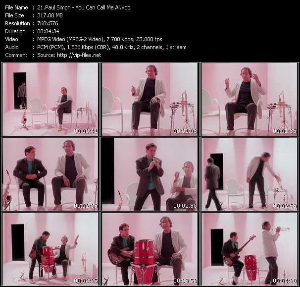 Paul Simon video screenshot