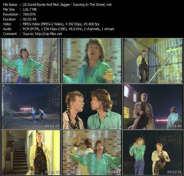 David Bowie And Mick Jagger video screenshot