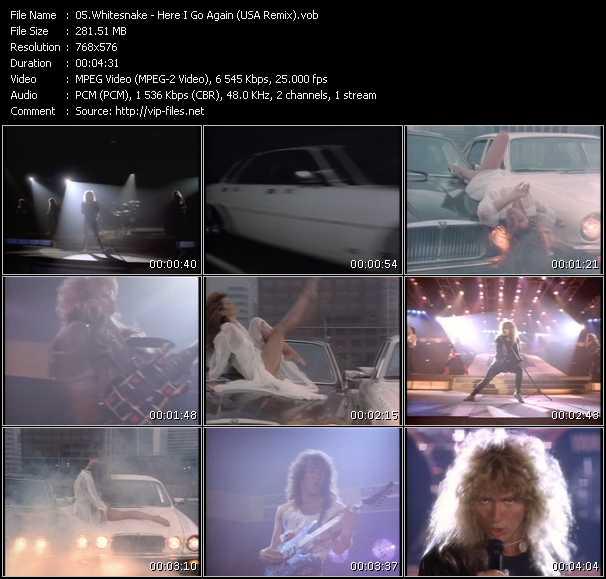 video Here I Go Again (USA Remix) screen