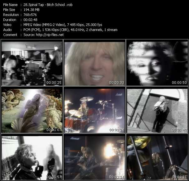 Spinal Tap video screenshot