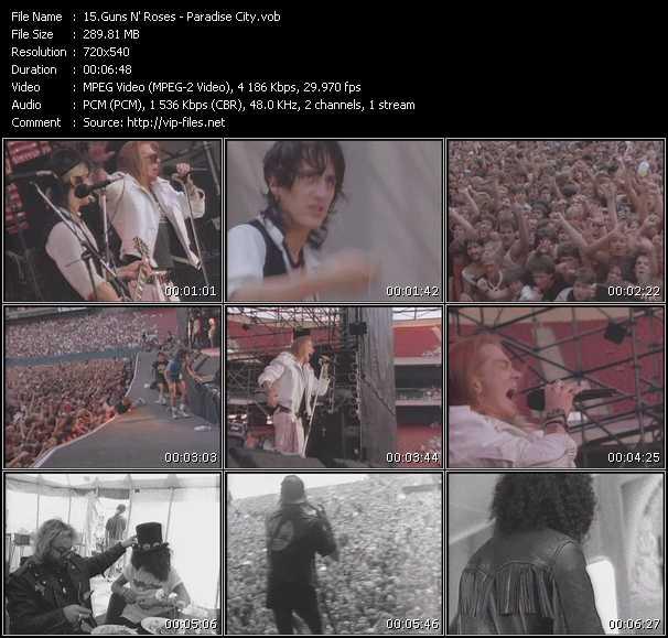 Guns N' Roses video screenshot