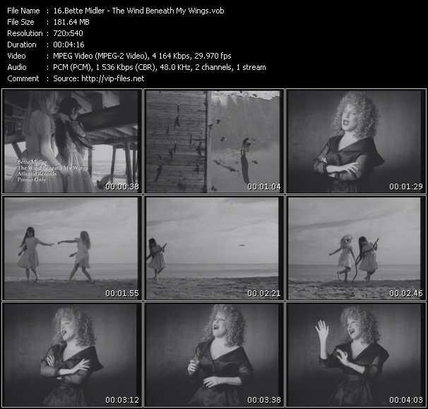 Bette Midler video screenshot