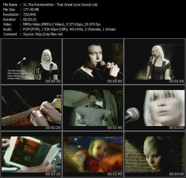 Raveonettes video screenshot