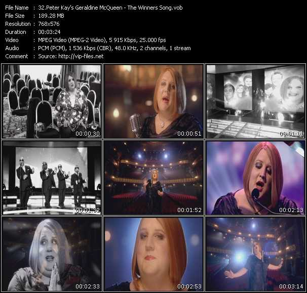 Peter Kay's Geraldine McQueen video screenshot
