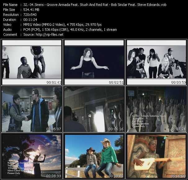 Sirens - Groove Armada Feat. Stush And Red Rat - Bob Sinclar Feat. Steve Edwards video screenshot