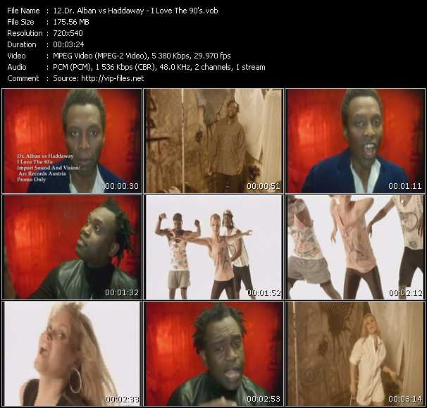 Dr. Alban Vs. Haddaway video screenshot