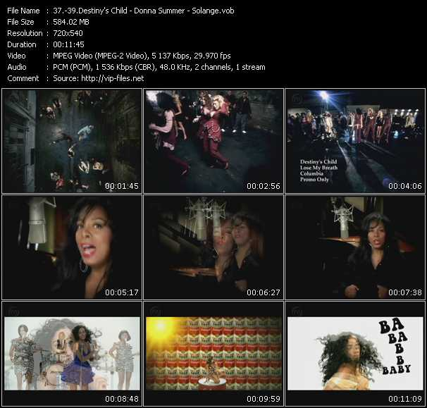 Destiny's Child - Donna Summer - Solange video screenshot