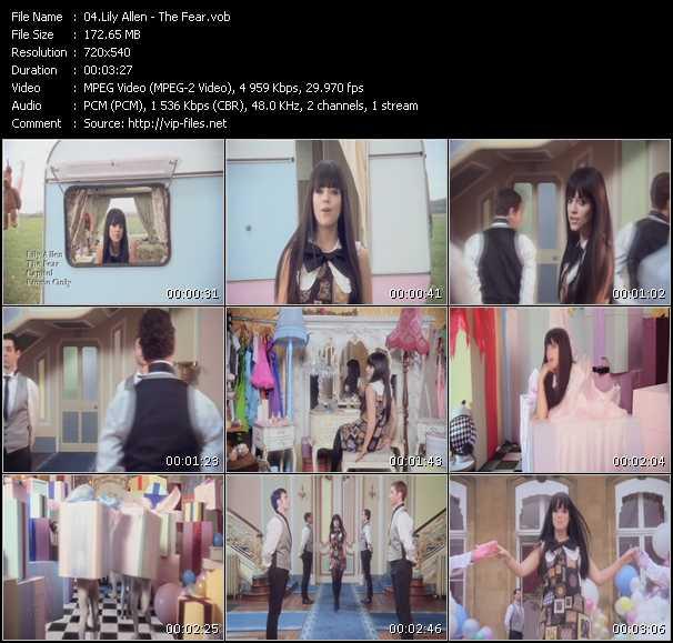 Lily Allen video screenshot