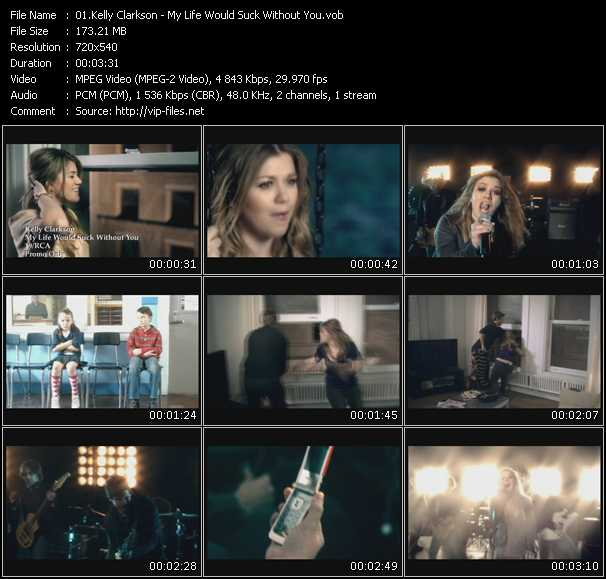 Kelly Clarkson video screenshot
