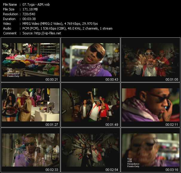 video AIM screen