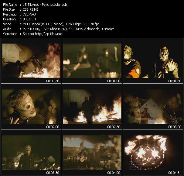 Slipknot video screenshot