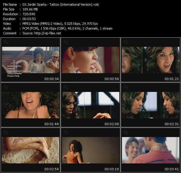 Jordin Sparks video screenshot