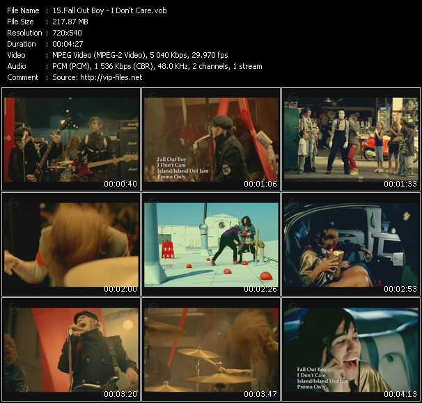 Fall Out Boy video screenshot