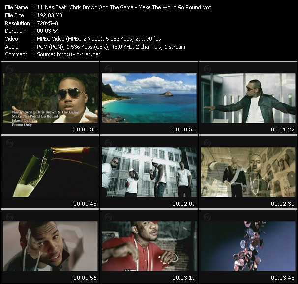 Nas Feat. Chris Brown And The Game video screenshot