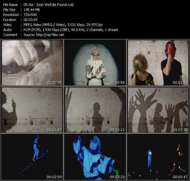 Sia video screenshot