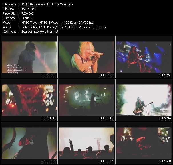 Motley Crue video screenshot