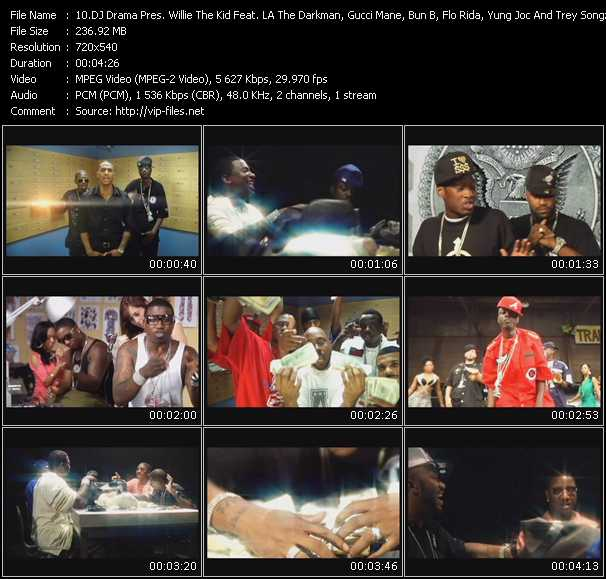 Dj Drama Presents Willie The Kid Feat. LA The Darkman, Gucci Mane, Bun B, Flo Rida, Yung Joc And Trey Songz video screenshot