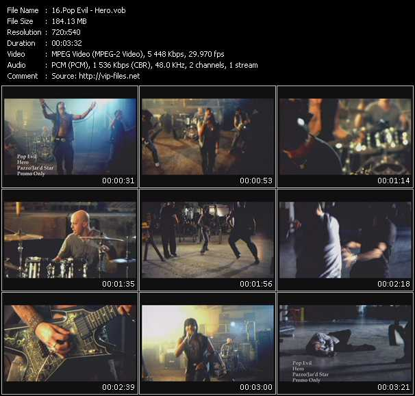 Pop Evil video screenshot