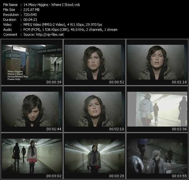 Missy Higgins video screenshot