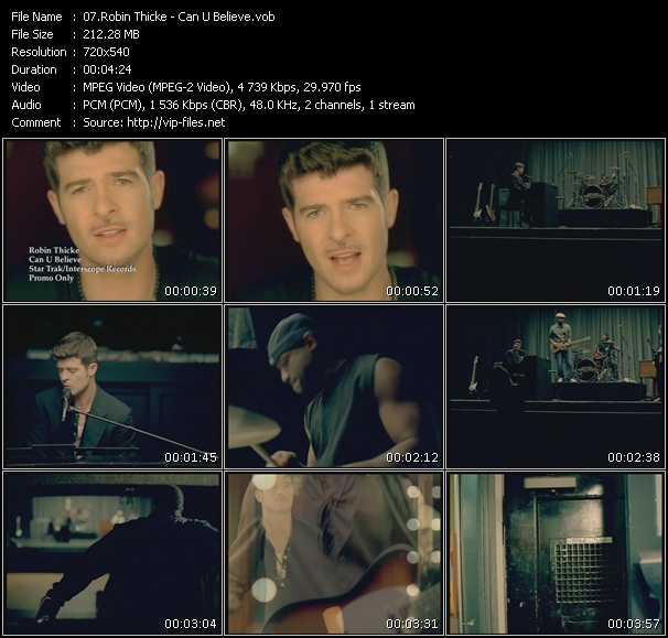 video Can U Believe screen